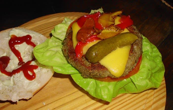 hamburguesas de lentejas y avena
