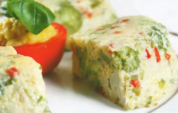 budin de brocoli y coliflor