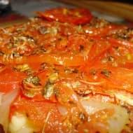Torta de Tomate, Queso y Cebolla