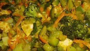 Brócoli salteado con Pollo