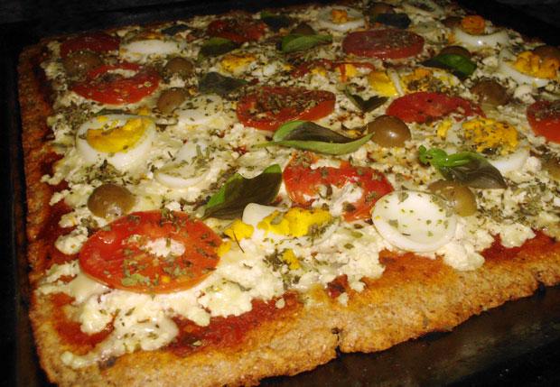Pizza con masa integral