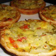 Tartaletas de Jamón y Morrón